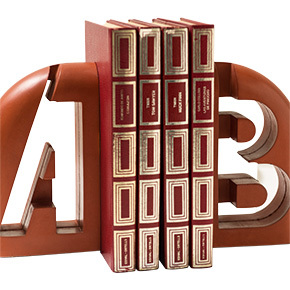 apoya libros con letra metrocuadrado rojo revista ed