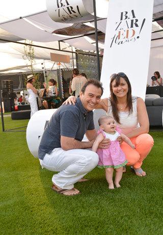 Carlos Barrios, Amelia Barrios y Sandra Bauer