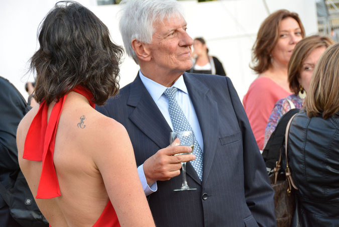 Magdalena Montero y alcalde de Vitacura Raúl Torrealba