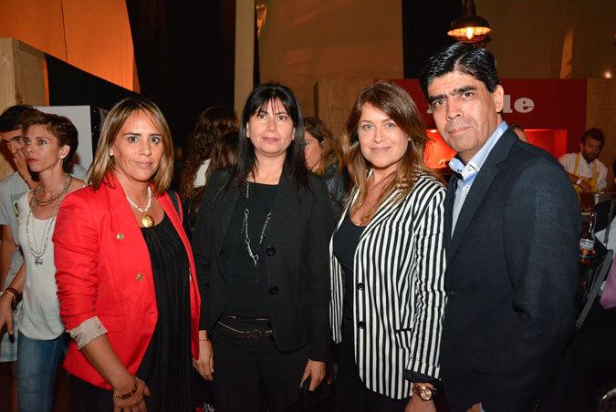 Paola Verdugo, Vjera Salvo, Daniela Moraga y Héctor Gacitúa