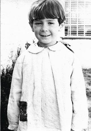 Luis Bellocchio, primer día de clases en el jardín N° 2 de Quilmes, Argentina, 1970.