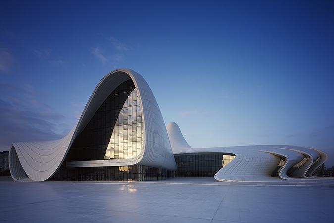 Centro Heydar Aliyev en Azerbaiyán