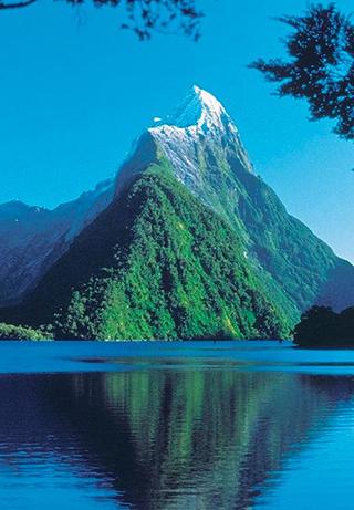 Milford Sound, Parque Nacional de Fiordland en Nueva Zelanda