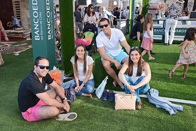 Andrés Rivera, Catalina Ormeño, Alexis Rivera y Rocío Ormeño