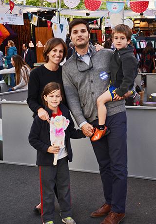 Cecilia Castillo, Rafael Eyzaguirre y sus hijos María y Rafael