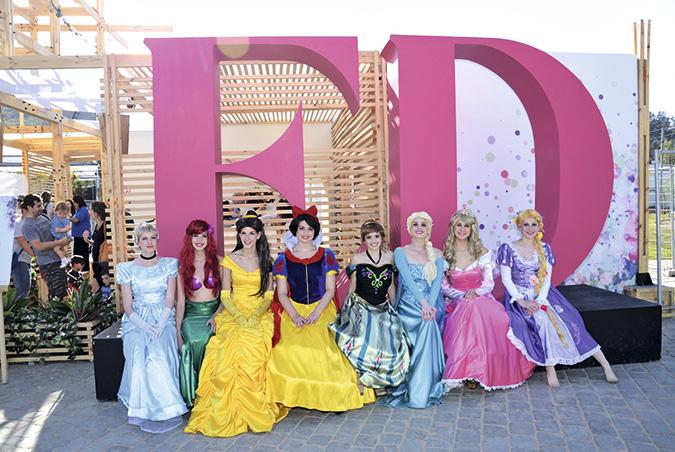 Disney también estuvo presente con todas sus princesas