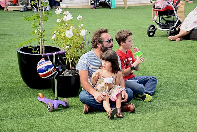 Emilio Nulart y sus hijos Emilio y Clarisa
