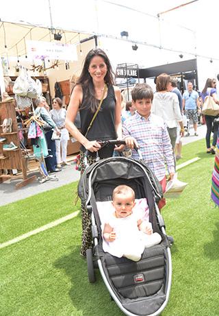 Francisca Cienfuegos junto a sus hijos Samuel y Celeste Rodríguez