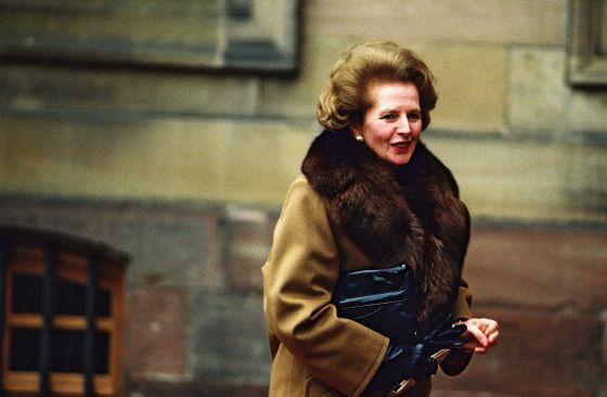 Margaret Thatcher a su llegada al parlamento británico