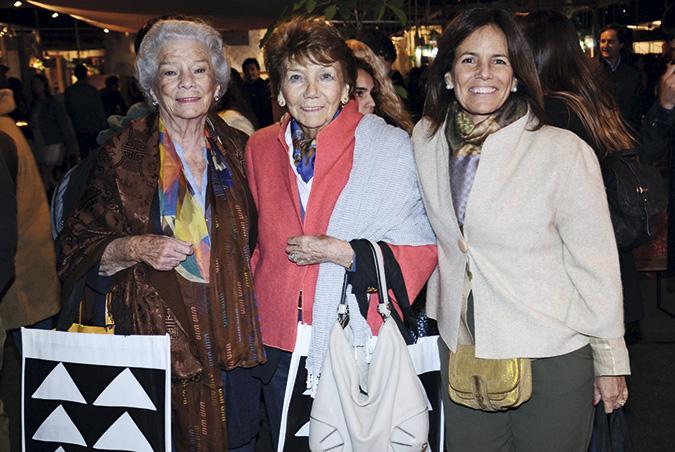 Teté Aguirre, Ofelia Castro y Cecilia Rojas
