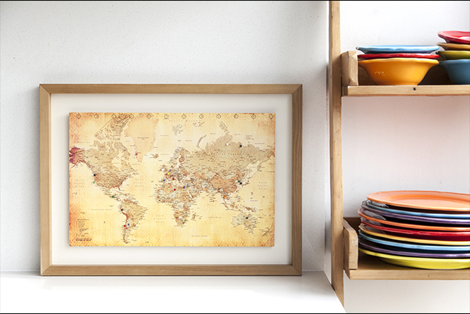 PIN YOUR TRAVEL MAP - Stand 95