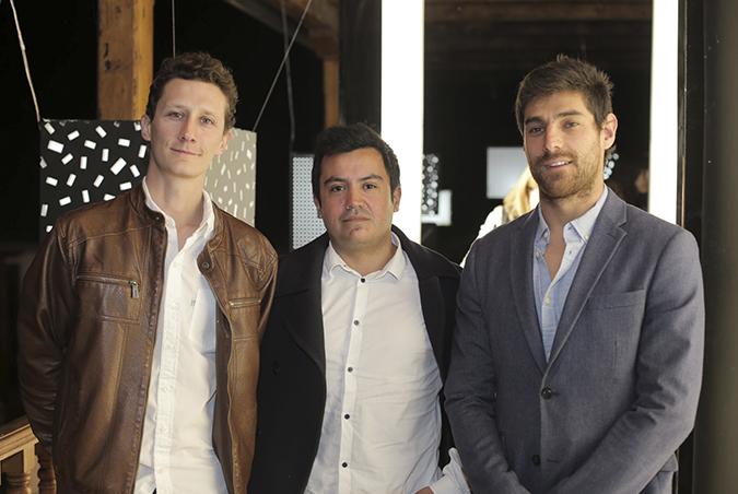 Diego Alarcón, Julio Barraza y Rodrigo Quiroga